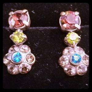 Sorrelli beautiful  rhinestones earrings.signed